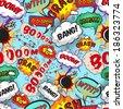 Seamless pattern comic speech bubbles  illustration - stock