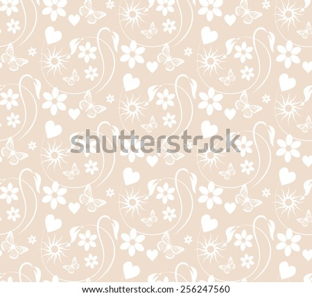 Seamless pattern for Your design: color almond