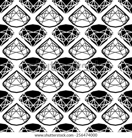 Seamless pattern from diamond design elements - stock photo