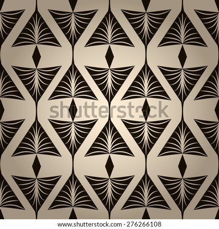 Seamless pattern, graphic ornament stylish background. Repeating texture with stylized elements - stock photo