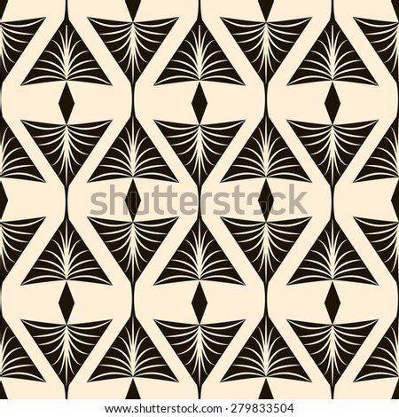 Seamless pattern, graphic ornament stylish background repeating texture with stylized elements  - stock photo