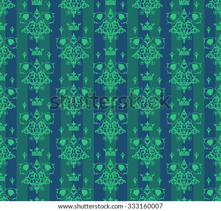 Seamless Pattern Green / Seamless Pattern Background / Seamless Pattern / Seamless Pattern Retro / Seamless Pattern Vintage / Seamless Pattern Design / Seamless Damask / Antique Seamless Pattern