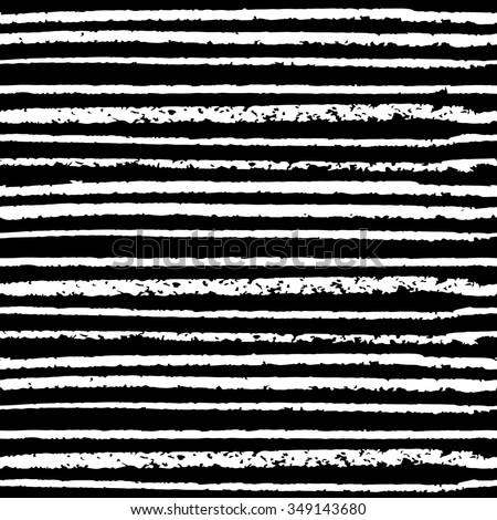 Seamless pattern hand drawn white lines on the black background