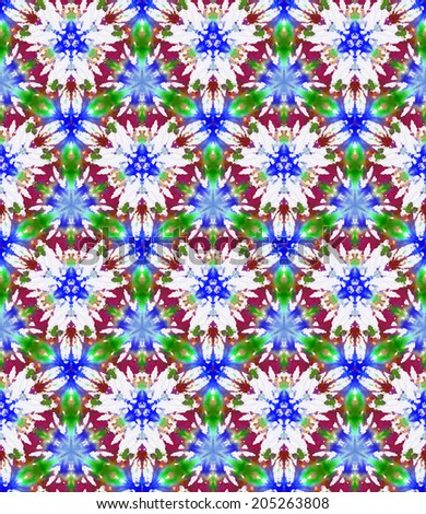 Seamless pattern made from tie-dye cotton - stock photo