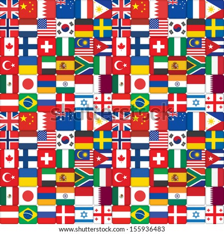 seamless pattern made of flag icons