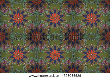 Mehndi Decoration Items : Seamless pattern mehndi floral lace buta stock illustration