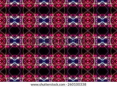 seamless pattern of concert lighting against a dark background - stock photo