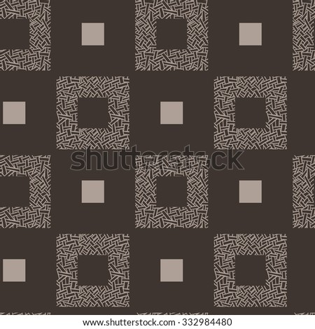 Seamless pattern of randomly intertwined ribbons