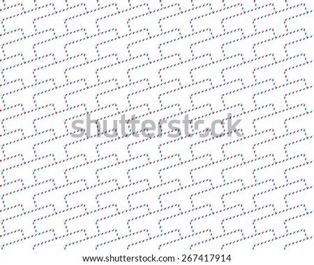 Seamless pattern of the abstract airmail envelopes
