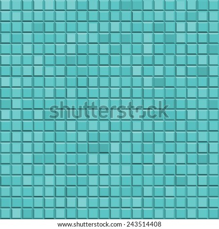 Seamless pattern of the abstract faceted tiles