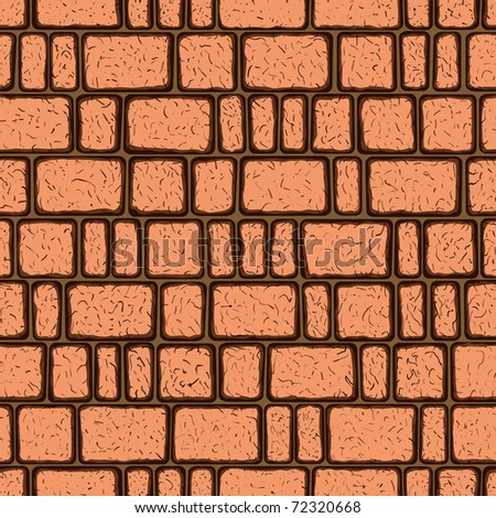 Seamless pattern of the brickwork