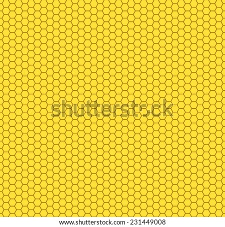 Seamless pattern of the hexagon honeycombs - stock photo