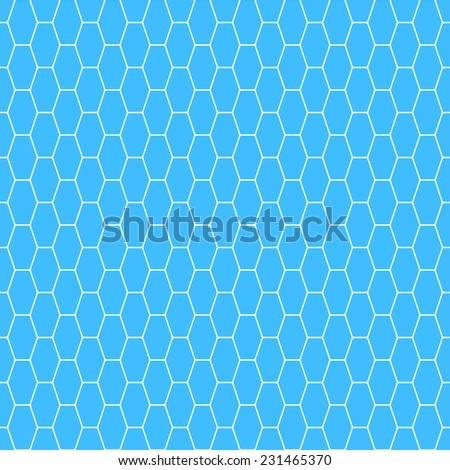 Seamless pattern of the white oblong hexagonal net - stock photo