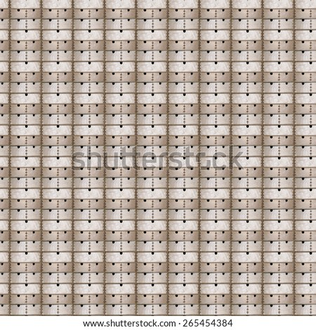 Seamless pattern of wooden drawers cupboard