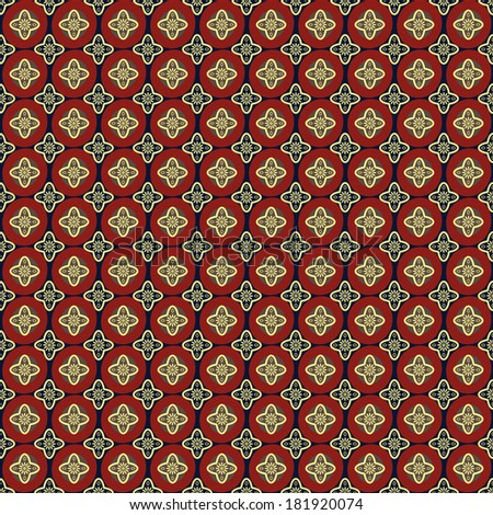 Seamless pattern on a dark background of decorative elements.Raster.