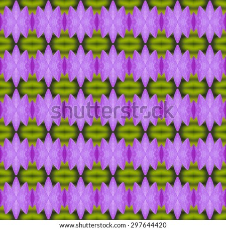 Seamless pattern on purple, pink, green tone - stock photo