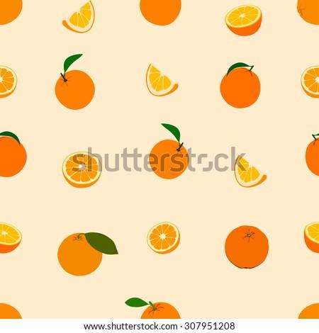 Seamless pattern Orange pattern. Background. Wallpaper - stock photo