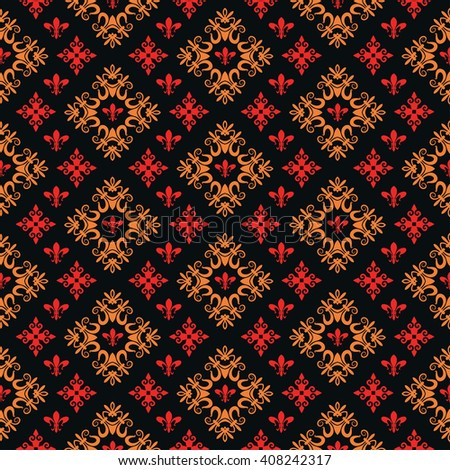 seamless pattern, retro wallpaper, dark