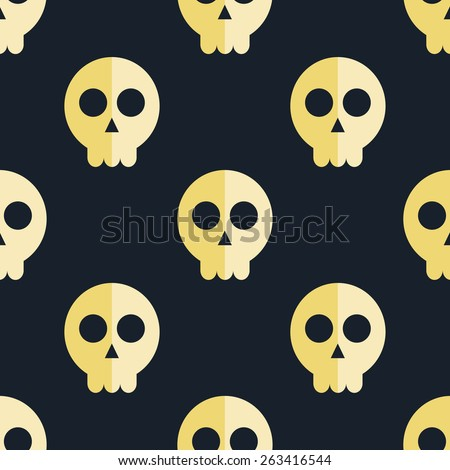 seamless pattern skulls background  - stock photo