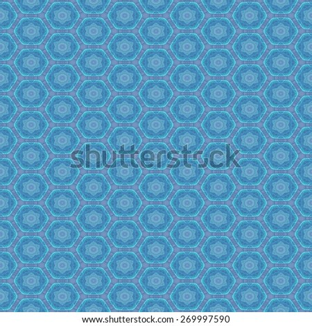 Seamless pattern with abstract motif like a kaleidoscope