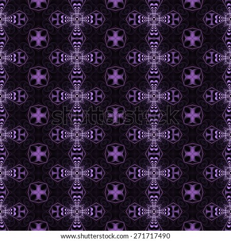 Seamless pattern with abstract motif like a kaleidoscope - stock photo