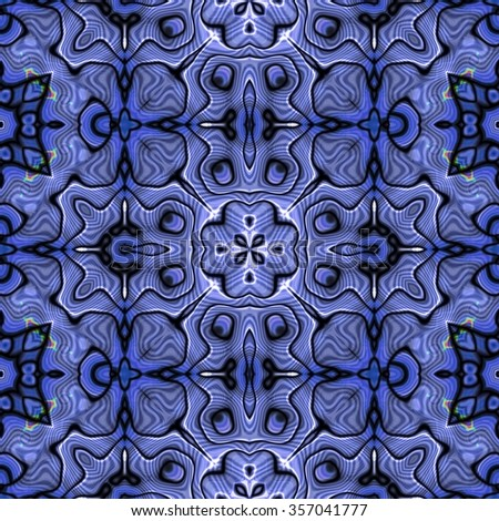Seamless pattern with abstract motif like a kaleidoscope. Abstract psychedelic kaleidoscope of color in the theme.