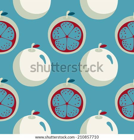 Seamless pattern with cartoon crazy oranges. Fabric design. Wallpaper. Endless texture background. Fabric design. Wallpaper - raster version - stock photo
