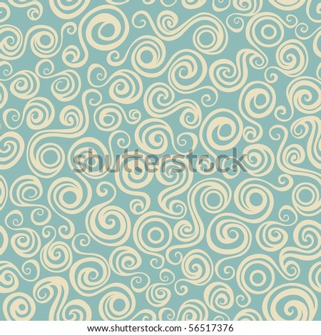 Seamless pattern with curly elements. Vector version is in my portfolio.