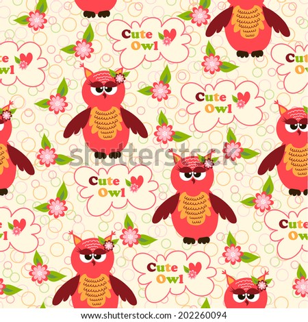 seamless pattern with cute birds and colorful houses for birds
