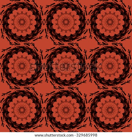 Seamless pattern with ethnic traditional elements. Boho texture for textile, wallpapers, advertisement, page fill, book covers etc. Christmas background - stock photo