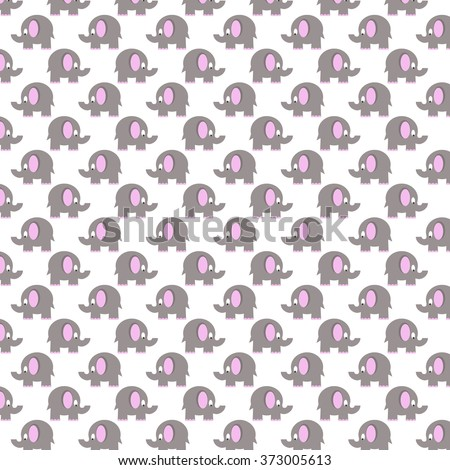 seamless pattern with grey elephants