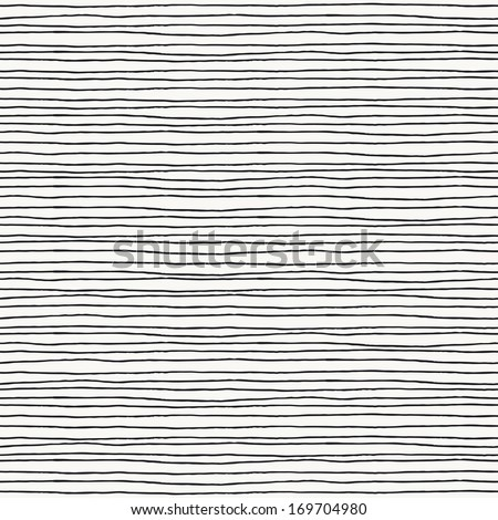 Seamless pattern with hand drawn lines - stock photo