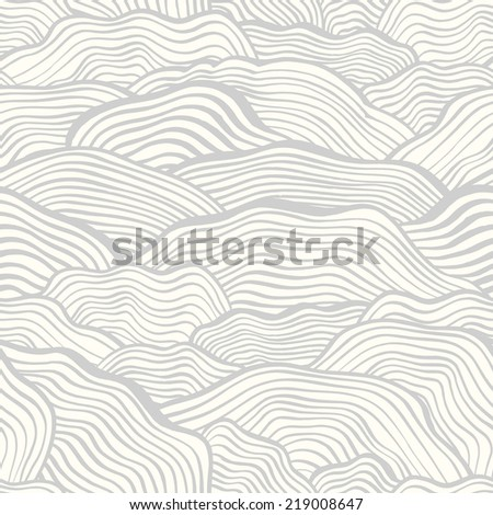 Seamless pattern with hand drawn wavy scale texture