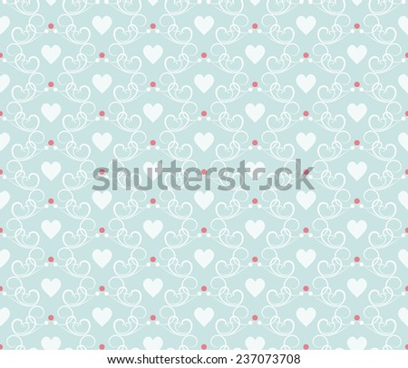 seamless pattern with hearts, for valentines day and wedding - stock photo