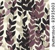 Seamless pattern with leaves. Raster version. - stock photo