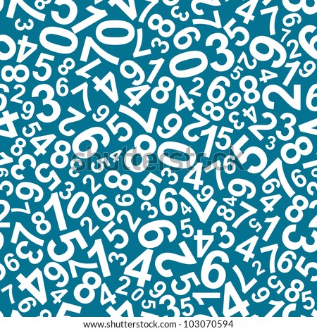 Seamless pattern with numbers for school design. Vector version also available in gallery - stock photo