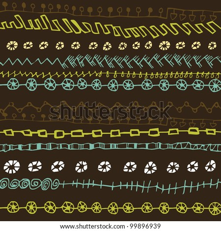 Seamless pattern with oriental ornaments.