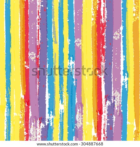 Seamless pattern with paint color brush vertical stripes. Raster version - stock photo