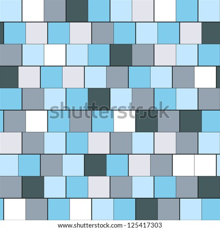Seamless pattern with squares (raster version). Abstract background. Cool cell structure