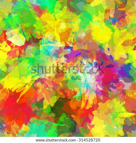 Seamless pattern with watercolor imprint of thread coil. Sloppy strokes of a paint. Raster 4 - stock photo