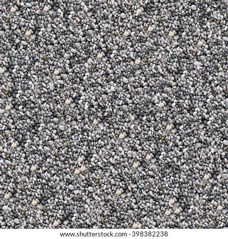 Seamless pebble background. - stock photo