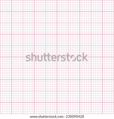 Seamless pink millimeter paper pattern - stock photo