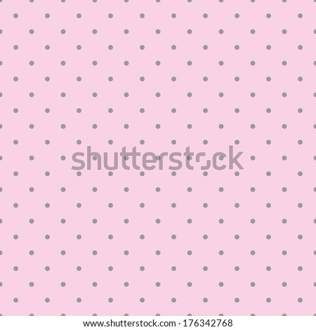 Seamless pink pattern with black polka dots on a pastel pink background. For desktop wallpaper, kids website design background, wedding or baby shower albums, backgrounds, arts and scrapbooks. - stock photo
