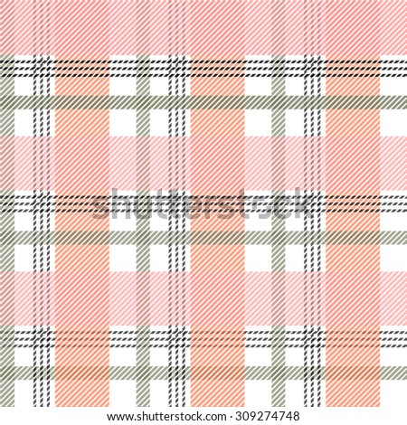 Seamless plaid checkered pattern. Pink, grey, white. Backgrounds & textures shop. - stock photo