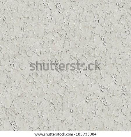 Seamless plaster texture background - stock photo