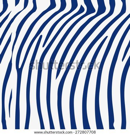 Seamless porcelain indigo blue and white zebra skin pattern - stock photo