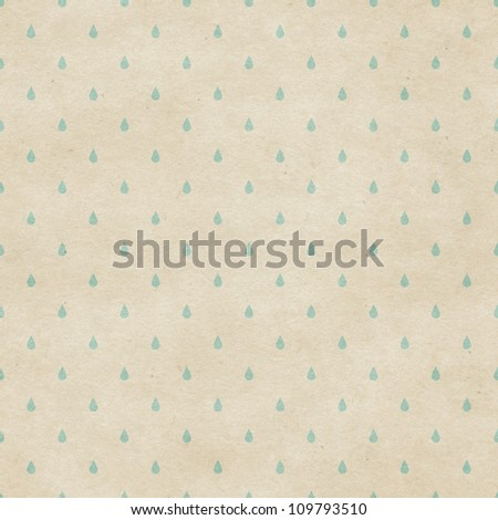 Seamless raindrops pattern on paper texture - stock photo