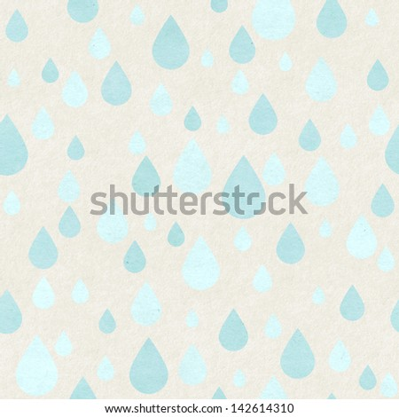 Seamless raindrops pattern on paper texture - stock photo
