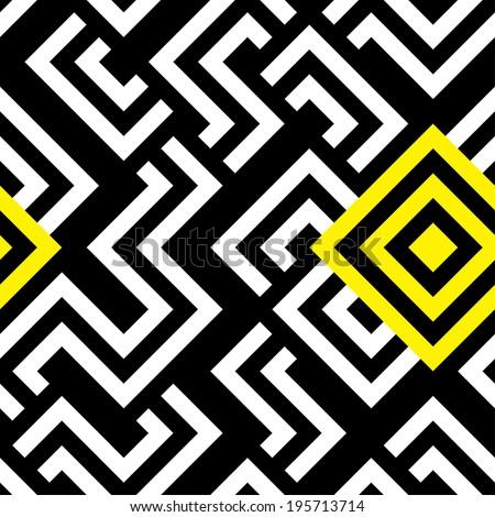 Seamless raster geometric striped pattern background - stock photo