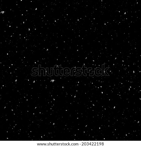 Seamless Realistic Snow Texture on a black background 2 - stock photo
